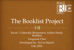 Culturally Responsive Book List